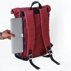 Sac à dos pour ordinateur portable, rouleau de sac à dos haut, mignon sac à dos, Womens sac à dos, Roll Top, sac à dos en toile, sac à dos pour homme, sac à dos, voyage sac à dos, sac