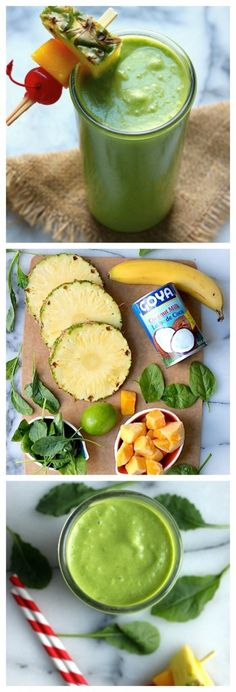 Delicious Tropical Green Smoothie - Baker by Nature