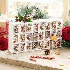 Santa Claus Large Wooden Advent Calendar