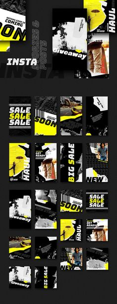These trendy and bold templates with grunge elements are ideal for fashion, lifestyle and travelling bloggers, boutiques' owners, photographers, musicians, etc. Can be used in various websites. You can replace text and photos, change fonts to your favourite ones. Change colors to match your mood or brand. Requires Adobe Photoshop.  Editable elements (colors, fonts, etc.) All elements are on separate layers Smart objects for pictures' placement Photos are not included Mode Instagram, Instagram Design, Instagram Fashion, Instagram Story, Instagram Posts, Style Instagram, Social Media Banner, Social Media Template, Social Media Design
