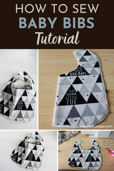 Free Pattern so you can Sew a Baby Bib. Learn how to make these baby bibs easily with a free pattern! With our step-by-step sewing tutorial, you will be churning out these super adorable Baby Bibs in no time. This is a great beginner's sewing project, it also makes a great gift. How To Sew Baby Bibs Tutorial