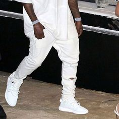 The all white Yeezy Boost 350 #yeezyboost