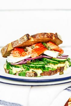From The Kitchen: The Ultimate Hot Smoked Salmon Sandwich with roast garlic aioli
