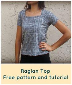 Top / emmanchure raglan - tuto gratuit - DIY - tutolibre