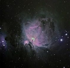 M42 by Mick Hyde, via Flickr     In English, That's the Orion Nebula. FYI.