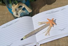 Beach Theme Pen Branch Pen Beach Wedding Decor 1 pen by JCBees, $19.00