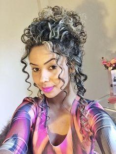 Permed Hairstyles, Straight Hairstyles, Girl Hairstyles, Wedding Hairstyles, Curly Hair Updo, Curly Hair Styles, Natural Hair Styles, Pelo Color Plata, Wedding Curls