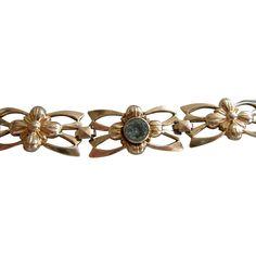 Blue Zircon  Bracelet in Symmetallic 14KT & Sterling
