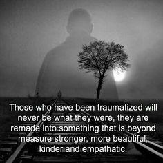 Ik zou willen dat DIT eens begrepen werd door de professionals bij politie en hulpverlening! Slachtoffers zijn geen potentiële daders! WIJ hebben geleerd hoe het NIET moet! Sexual abuse, trauma, PTSD, rape, assault, war