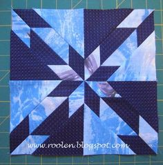 Hunter's Star Tutorial on Quilting Board at http://www.quiltingboard.com/tutorials-f10/hunters-star-t50608.html