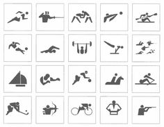 A History of Olympic Games pictograms