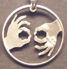 Interpreter ASL Cut Coin Jewelry by bongobeads on Etsy, $14.95