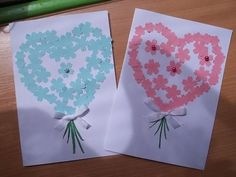 srdíčka Cute Crafts, Easy Crafts, 8 Martie, Done With You, How To Make Paper, Scrapbook, Activities, Children, Drawings