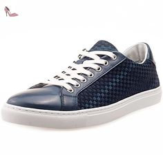 Tommy Hilfiger Laced Mens Leather & Textile Trainers Navy - 45 EU - Chaussures tommy hilfiger (*Partner-Link)