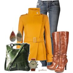 Falling Into Fall by cynthia335 on Polyvore featuring Ted Baker, Jessica Simpson and HEATHER BENJAMIN