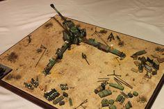 Trumpeter M198 Howitzer overhead