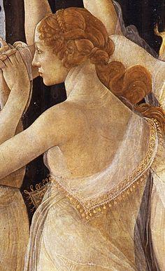 Sandro Botticelli, Primavera, detal