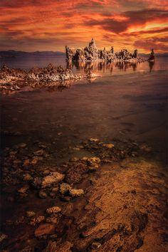 ~~Mono Sunset   Mono Lake, California   by Wolfgang Moritzer~~
