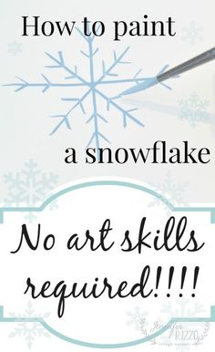 How to paint a snowflake – Painting snowflakes Christmas Paintings, Christmas Art, Christmas Projects, Christmas Ideas, Christmas Decorations, Christmas Stuff, Christmas Ornaments, Christmas Stencils, Christmas Canvas