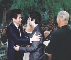 Dylan O'Brien and Ki Hong Lee at Ki Hong Lees wedding