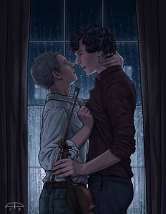 Johnlock makes me so very happy <3 I realize that a lot of people think that its a sick twisting of their beautiful friendship, but you can't have a beautiful love story without a friendship like that first.
