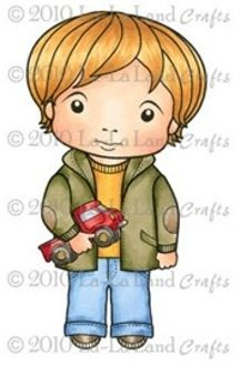 Luka with Truck Rubber Stamp