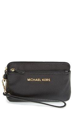 e8e9330c6bdc MICHAEL Michael Kors 'Medium Bedford' Leather Wristlet available at  #Nordstrom Michael Kors Shoulder. Michael Kors Shoulder BagMichael ...