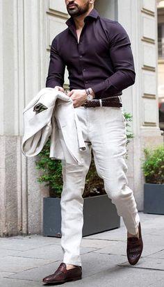 La femme formal dresses for men, formal shirts for men, casual winter outfi Formal Dresses For Men, Formal Men Outfit, Formal Shirts For Men, Outfits Casual, Stylish Mens Outfits, Business Casual Outfits, Mode Outfits, Formal Wear For Men, Casual Shirts