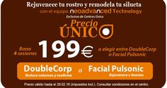 ¡Rejuvenece tu rostro o remodela tu silueta con el equipo Neoadvanced Technology exclusivo de Centros Único Oficial por tan sólo 199€!