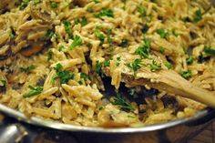 Vegan Mushroom Orzotto and other vegan recipes Greek Recipes, Whole Food Recipes, Cooking Recipes, Cookbook Recipes, Pasta Recipes, Vegan Foods, Vegan Dishes, Vegetarian Recipes, Healthy Recipes
