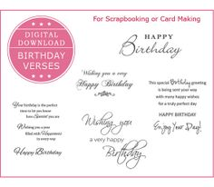 88 Best Greeting Card Verses For Bday Images On Pinterest Happy