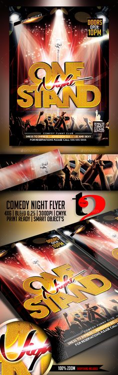 Stand Up Comedy Night Flyer Comedy nights, Font logo and Fonts - movie night flyer template