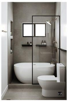 Small Luxury Bathrooms, Small Full Bathroom, Small Bathroom Layout, Bathroom Design Luxury, Modern Bathroom, Small Bathtub, Small Wet Room, Compact Bathroom, Small Bathroom Renovations