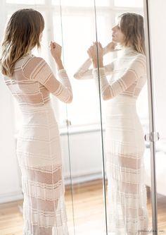 Veronika Heilbrunner, style story, White Lace Dress, Ganni, Berlin apartment, Sandra Semburg / Garance Doré