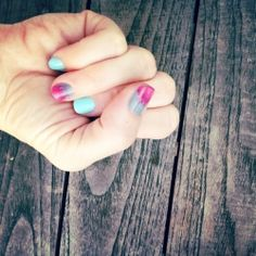 Brushed Ombre Accent Nail Tutorial inspired by 80's Camp Beverly Hills Sweatshirts.