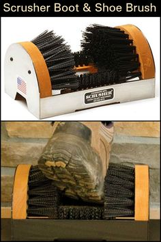 This Boot Brush Removes Mud, Grass Clippings And Debris From Boots Before They Enter Your Home