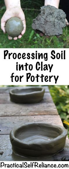 How is the soil processed into clay for pottery? - Diy and craft