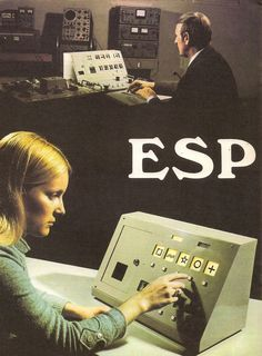 Extrasensory perception ( ESP ) Vintage Photograph