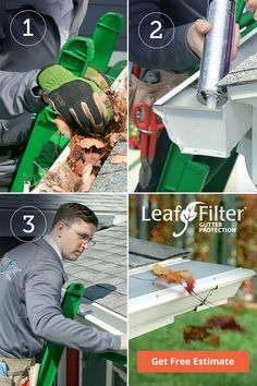 Tired of cleaning your gutters? We'll: 1️. CLEAN them 2️. REALIGN them and 3️. INSTALL our award-winning gutter guard so Your gutters will remain clean for life! Hour Glass Tattoo Design, Carport Plans, Fun Halloween Crafts, Good Bones, Home Repair, Tropical Plants, Outdoor Projects, Outdoor Fun, Backyard Landscaping