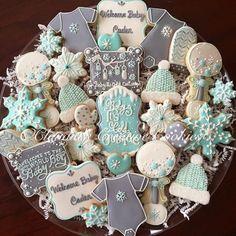 Baby shower cookies. - Claudia's Creative Cookies