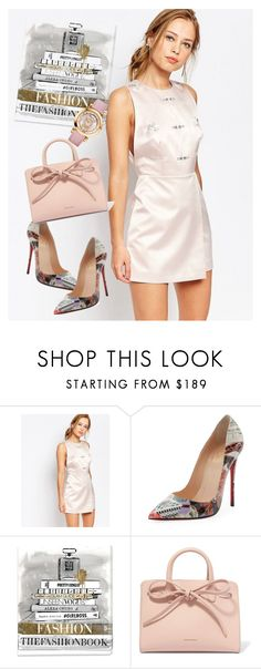 """dress"" by masayuki4499 ❤ liked on Polyvore featuring Keepsake the Label, Christian Louboutin, Oliver Gal Artist Co., Mansur Gavriel and Salvatore Ferragamo"