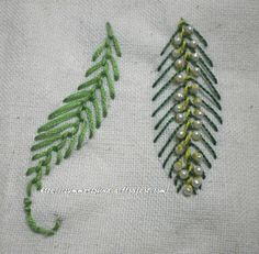 Feather Stitch Variations
