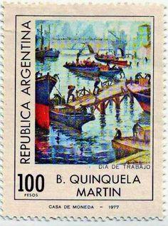 Estampilla 1977 Benito Quinquela Martín