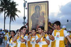 Símbolos JMJ na Igreja Ressurreição (Passagem por Leblon e Ipanema)