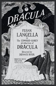 Edward Gorey Dracula Art for the Broadway Musical
