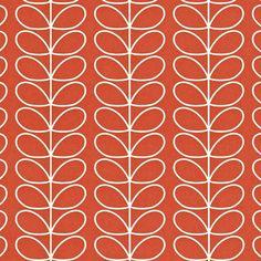 Orla Kiely | UK | House | Wallpaper | Linear Stem Wallpaper (0WALLST501) | Poppy