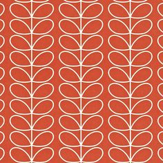 Orla Kiely | UK | house | Living | Linear Stem Wallpaper (0WALLST501) | poppy
