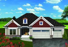 Traditional House Plan Front of Home for Home Plan also known as the Mallard Traditional Ranch Home from House Plans and More. House Plans And More, Luxury House Plans, Best House Plans, House Floor Plans, Ranch House Plans, Country House Plans, Shingle Siding, Open Concept Floor Plans, Monster House Plans
