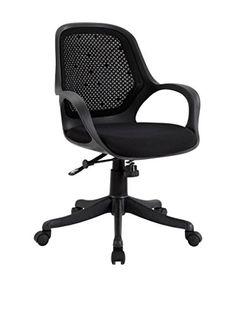 LexMod Arrow Ergonomic Task Office Chair, Black