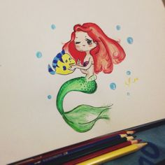 Princess ariel doodle version from the little mermaid
